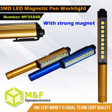 most powerful smd small clip pen light battery operated mini flexible work light
