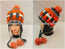 lady winter hat with earflaps and 3D words