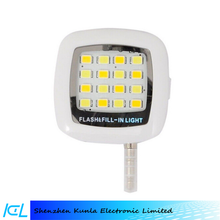compact size mobile phone selfie flash cell phone led flash light, external sync light fill flash