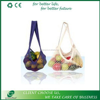 colorful cotton shopping net bags
