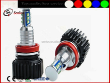 Super powerful best bright CRE Chips LED headlight marker kit 120w h8 white led angel eye for bmw e92 E87 E82 E93 E90 x5 x6