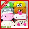 Wholesale new design high quality super cheap cute animal plush pencil case