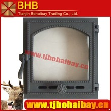 BHB hot-selling/fashion designed fireplace glass door
