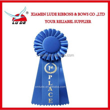 2015 Rosette Award Ribbon For Party/fashion cool cheap custom award ribbon rosette button badge