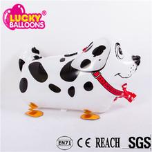 China wholesale high quality dog shaped animal walking inflatable helium balloon