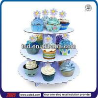 3 tiers cardboard cup cake/ food display rack