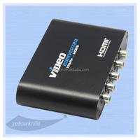 RGB YPbPr Component AV 5RCA to HDMI Converter with R/L Metal Casing with AC Adapter