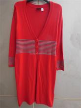 V neck long sleeve basic cardigan lady's garment stock lot