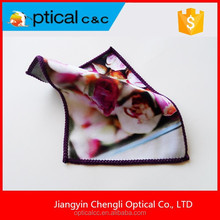 Double sided microfiber lens cleaning cloth