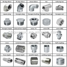 """stainless steel pipe fitting, npt/bsp/din2999 thread, 1/8""""-6"""", 150psi"""