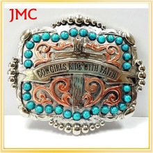 2015 hot sale western cowboy belt buckle with low price