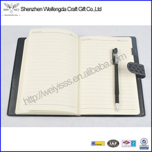 High Quality Deluxe Pen Holder Black PU Leather Bound Diary