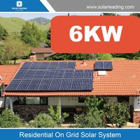 On-Grid (Grid tie) PV renewable Power Generation solar array 6Kw photovoltaic system including utility, commercial, and resident