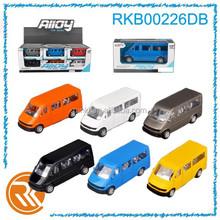Hot mini metal toys cars pull back van