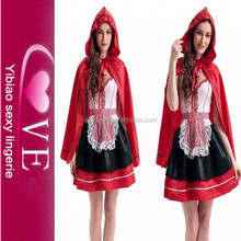 traje de la moda adulto por caperucita roja las mujeres del traje de disfraces sexy