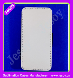 JESOY High quality Blank Sublimation White Fabric PU leather flip Phone Case cover for LG G3