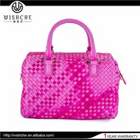Wishce 2015 Latest Wholesale Women Leather Satchel Bags Girls One Shoulder Bags Manufacture China Factory W097