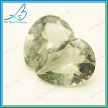 Pear cut olive 8*10mm glass decorative loose stones,wholesale synthetic gems
