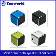 Wholesale Portable MD07 Speaker Music FM Radio Support Read TF Card Home Theatre Mini Bluetooth Speaker