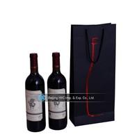 2015 customed paper wine bag, wine glass bag, 1.5l bottle wine bag