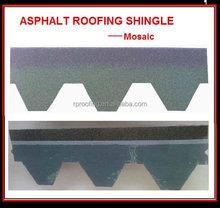 cheap mosaic fiberglass bitumen roofing shingle made in china