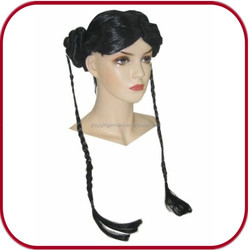 Carnival black long braided lace front wig PGW-1758