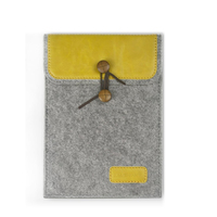 J.M.SHOW Tablet Sleeve Bag Envelope PU Leather Case Wool Felt Sleeve 10 inch for iPad Air iPad