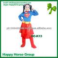 Las niñas vestido de superman de vestuario, las niñas de carnaval vestido de superhéroe, vestido de superman para las niñas