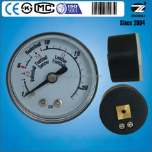 1.5'' / 40mm plastic case ball pressure gauge for volleyball basketball football leather etc.
