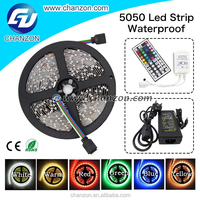 Super sale ip65 DC 12v 5050 outdoor flexible waterproof rgb led lighting strips