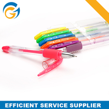Highligther Glitter Color Clear Holder Uniball pen