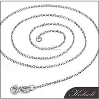 Luxury simple design 925 sterling silver roll chain