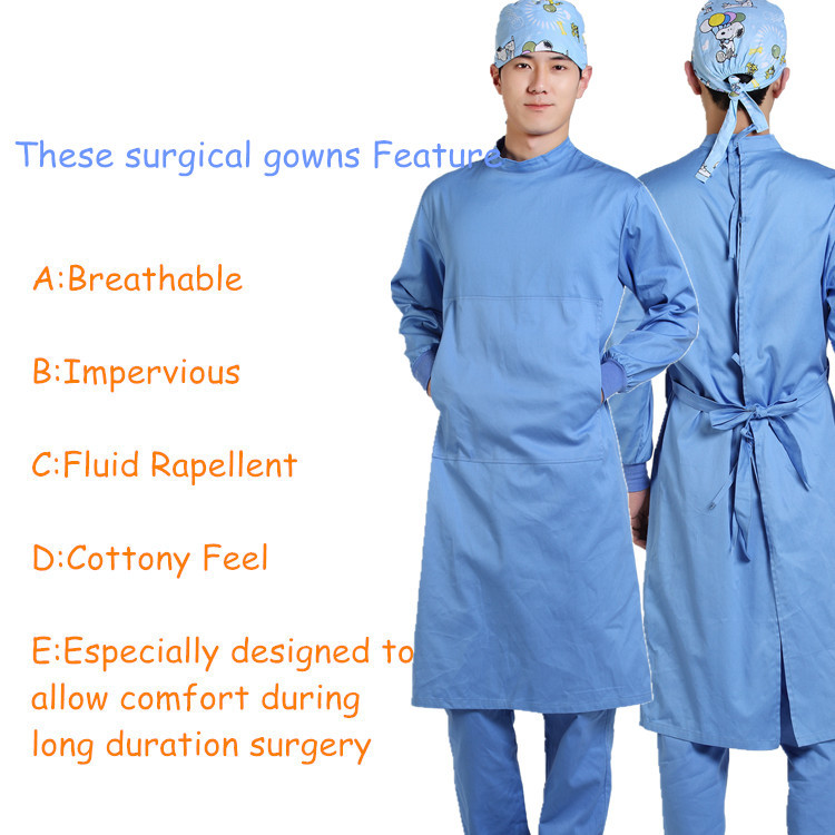 High quality 100% cotton hospital gowns, operation theatre gown ...