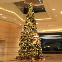 Ribbon decorated Christmas tree with small ball for mall