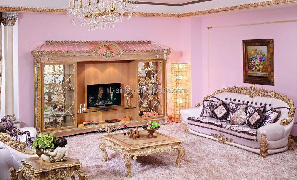 Luxury french baroque stylish living room furniture sofa for Baroque living room furniture