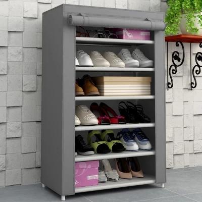 No tejido de tela a prueba de polvo 6 niveles caliente de - Organizador de zapatos casero ...
