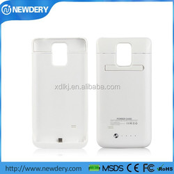 Top quality 4800mah Flip Leather Battery Case For Galaxy Note 4
