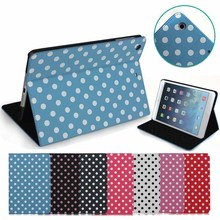 Lovely Polka Dot Cute leather case for ipad mini, for ipad cases