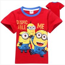 new 2015 despicable me minion baby boys t shirt girls nova fashion Summer t-shirts kids children t shirts Tops Tees