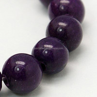 10mm Polished Gemstone Purple Colored Mashan Jade Beads Jade Stone Price