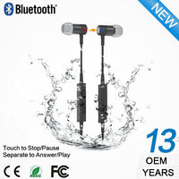 Professional sport headphone stereo buletooth eraphones with mic