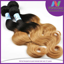 ombre color unprocessed 5a body wavy loose deep unprocessed wholesale hair in new jersey