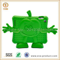 Lovely apple design EVA cover case with little hands and feet work for ipad2&3&4