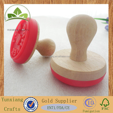 wooden stamp for biscuit branding stamp