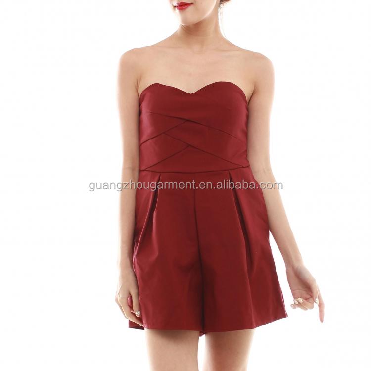 Luxury Rompers Womens Jumpsuit 2015 Summer Black VNeck Sleeveless Casual