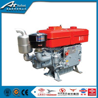 Hot sale zs1105 Hand crank single cylinder 10hp diesel engine for compact tractors