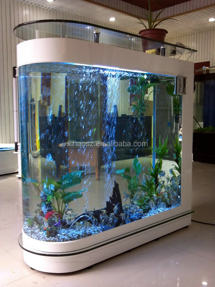 Wholesale floor type acrylic low price bullet fish for Fish tank price