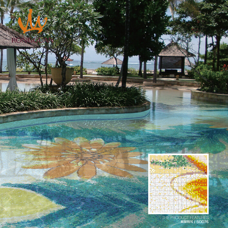 Swimming pool mosaic designs creative ideas about for Pool tile designs