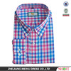2015 Custom men Embroidered plaid casual shirt