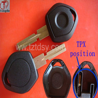 Tongda top quality transponder remote key shell no light with TPX position, key blank